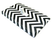 Black and White Chevron Decor Light Switch Cover Chevron Stripes Chevron Pattern Home Decor
