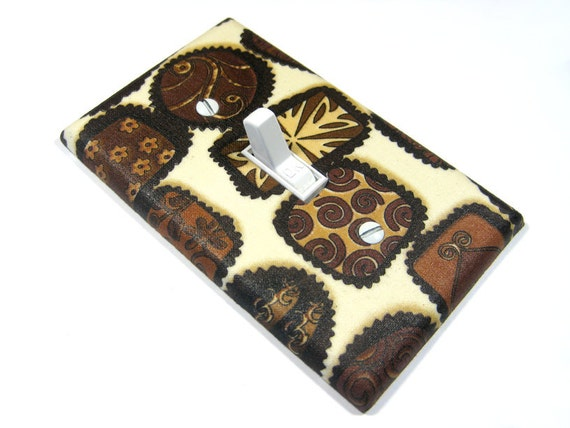 Chocolate Candy Kitchen Decor Light Switch Cover Home Decor Switchplate Brown Sweet Treat 412