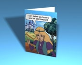 Legend of Zelda Greeting Card - Excuse Me Princess (Custom Printable Template)
