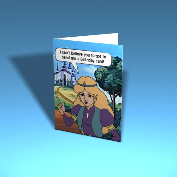 legend of zelda greeting card excuse me princess custom, Birthday card