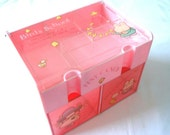RESERVED For Francesca - Very Rare Cute Kawaii Japan Vintage Original Tiny Candy Pink Chest Box 1980 By Victoria Fancy