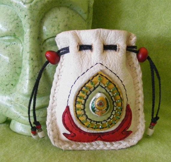LOTUS FLOWER medicine spirit Pouch bag