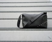 Tote eco leather/vegan leather bag in black / eco friendly/ women and men