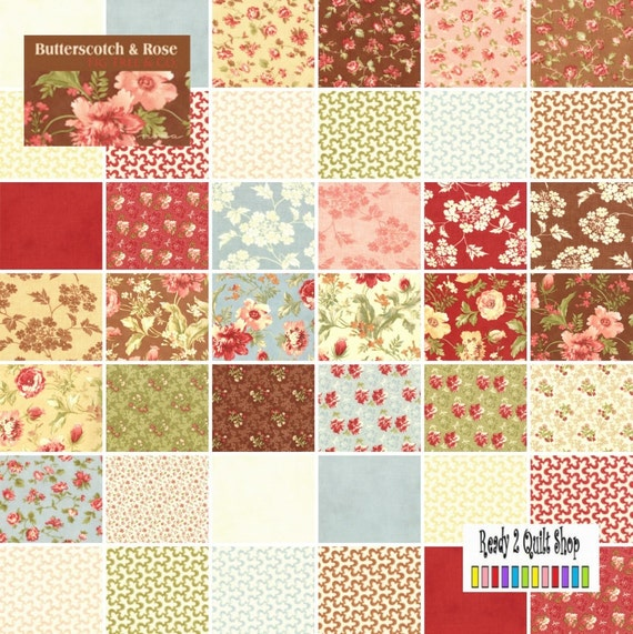 Butterscotch & Rose Charm Pack fabric squares MODA no2542