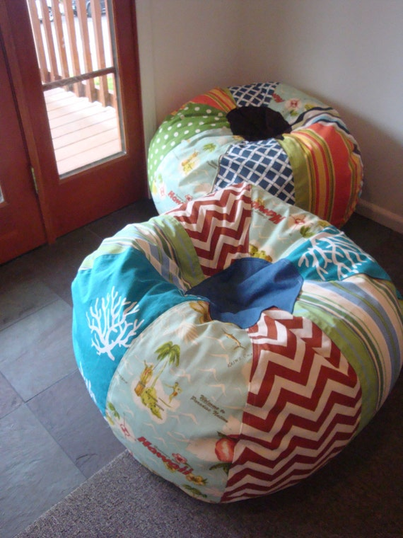 SPECIAL  Listing TALIP Unfilled Hawaiian Postcard Beach Chic Bean Bag Chair