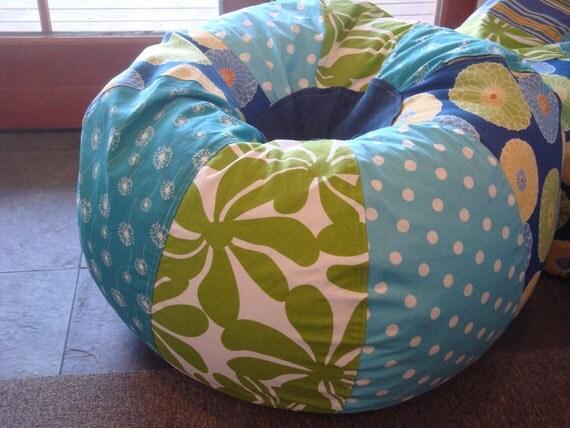 Blues and Green Beach Tropical Bean Bag chair