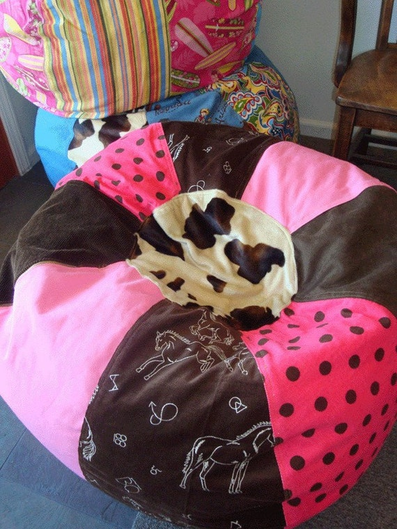 New Cowgirl Bean Bag Chair Pink Western Pony