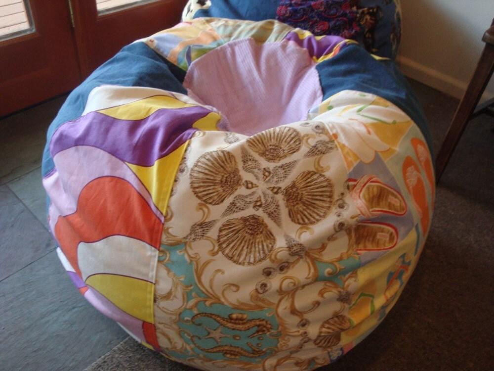 Flip Flops And Fun Beach Prints Bean Bag Chair