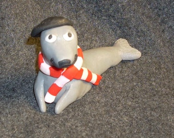 Pierre the French polymer clay seal