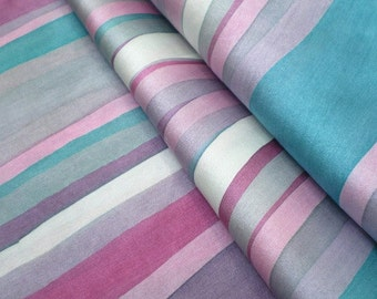 Wavy Lines silk shawl, hand painted silk