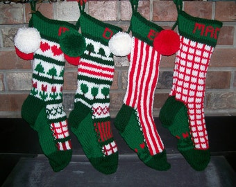 Custom order for one personalized old by santasstockingworks for Fashion christmas stockings