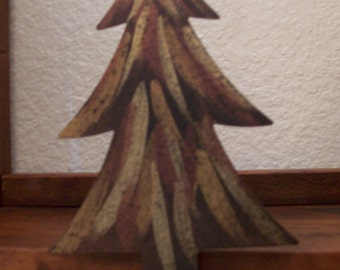 Custom Hand Painted Blackened Finish Metal Gold Bronze Copper Fir Trees Christmas Stocking Hangers