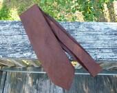 Embossed Chocolate Brown Vintage Necktie