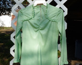 Lovely Lime Green Polyester Dress