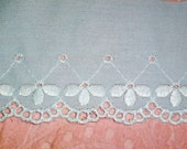Embroidered Baby Blue Scalloped Lace Trim
