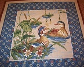 Vintage Quilt Craft Panel - Country Song Ducks - MINT - 1983
