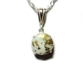 SALE - Goldenite quartz sterling silver pendant with chain