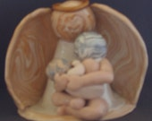 CUSTOM ORDER for Sher  Angel Sheltering Nursing Mother and Child