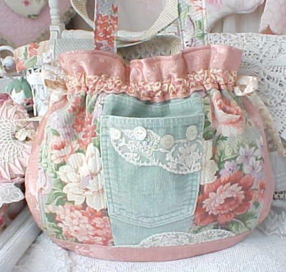 floral bouquet barkcoth and levi pocket purse. Black Bedroom Furniture Sets. Home Design Ideas