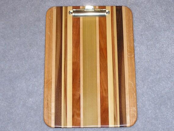Standard Wood Clipboard Poplar, Maple, Oak, Walnut and Cherry