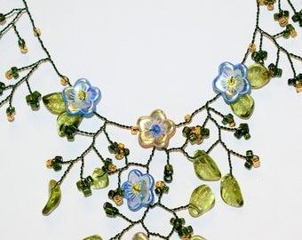 Elegant Flower Garden Necklace