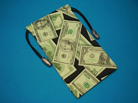 Money Draw Silk Lined Tarot Card Pouch, Tarot Card Bag