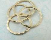 15mm 14k Gold Filled Closed Hammered Rings, Set of 4