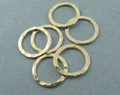 10mm 14k Gold Filled Closed Textured Circles - Lot of 6