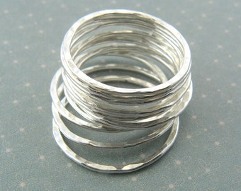 Sterling Silver Circle Links Shiny - Textured 3/4 Inch - 19mm - Lot of 16