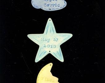 BABY TRIO  cloud/star/moon
