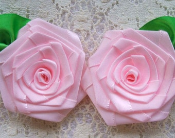 Ribbon Roses 2 XLG  2-1/2in. Victorian, for Boutique Designers Whisper Pink FG