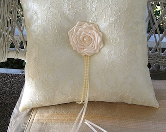 Ring Pillow ENCHANTMENT Available in White or Ivory