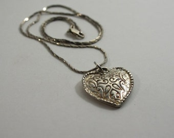 Embossed Handmade Heart Pendant