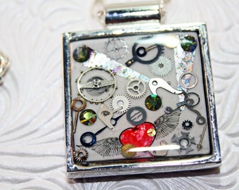 Steampunk Square pendant