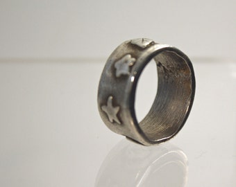 Metal Clay Antiqued  Ring