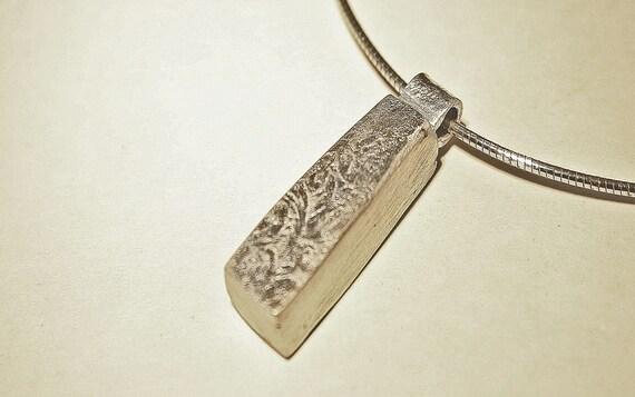 Prcecious metal clay box pendant