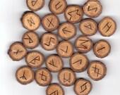 Starburst Oak Wood Runes Elder Futhark