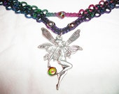 Iridescent Fairy Rainbow Hemp Necklace - Hemp Jewelry