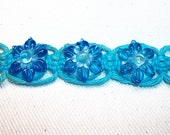 Blue Lotus Glass Flower Hemp Bracelet - Lampwork Flower Glass Bead Hemp Jewelry