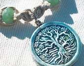 Tree of Life Hemp Necklace with Gemstone Beads - Natural Hemp Jewelry with Aventurine Sodalite Amethyst