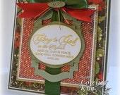 Luke 2:14 Handmade Christmas Card RESERVED FOR SWHITLEY6817