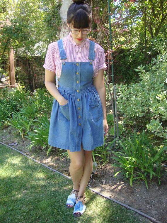 Vintage Denim Mini Dress XS