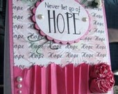 Never Give Up Hope Breast Cancer Card