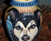 Large pet urn for ashes dogs, cats LARGE The Sacred Urn