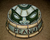 Tattoo DOG bowl TIKI totem ceramic hand painted custom with your pets name large