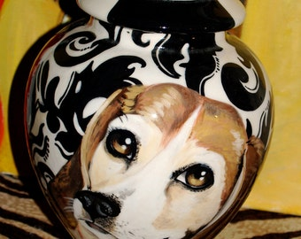 Custom medium PET URN for dogs and cats bull dog medium beagle all breeds