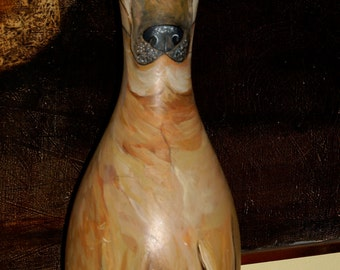 custom Hand Painted BOWLING PIN with YOUR Dogs pet portrait hound on it all breeds