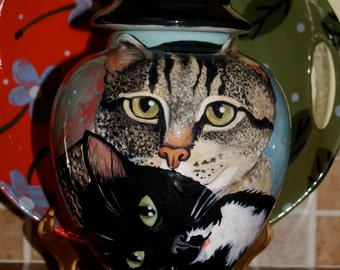 Custom medium PET URN for cat and cats ANY multiple small pets urns