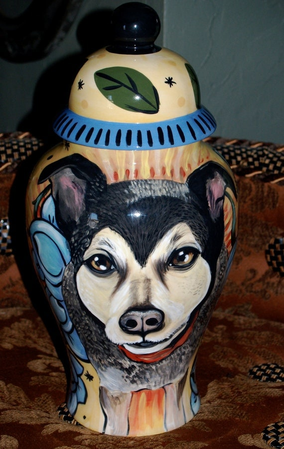 Ceramic burial PET URN Custom large dog urn shepherd any breed personalized