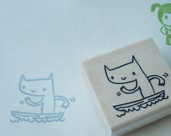 row-boater boof - rubber stamp